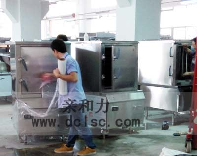 亲和力商用单门蒸饭柜清洁打包