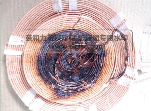 商用电磁炉维修线盘断裂收集图片