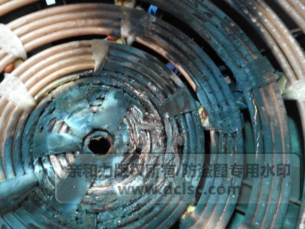 劣质商用电磁炉线盘
