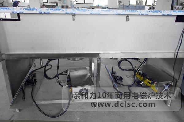 亲和力超高配商用电磁炉双头单尾电磁小炒灶车间安装机芯图